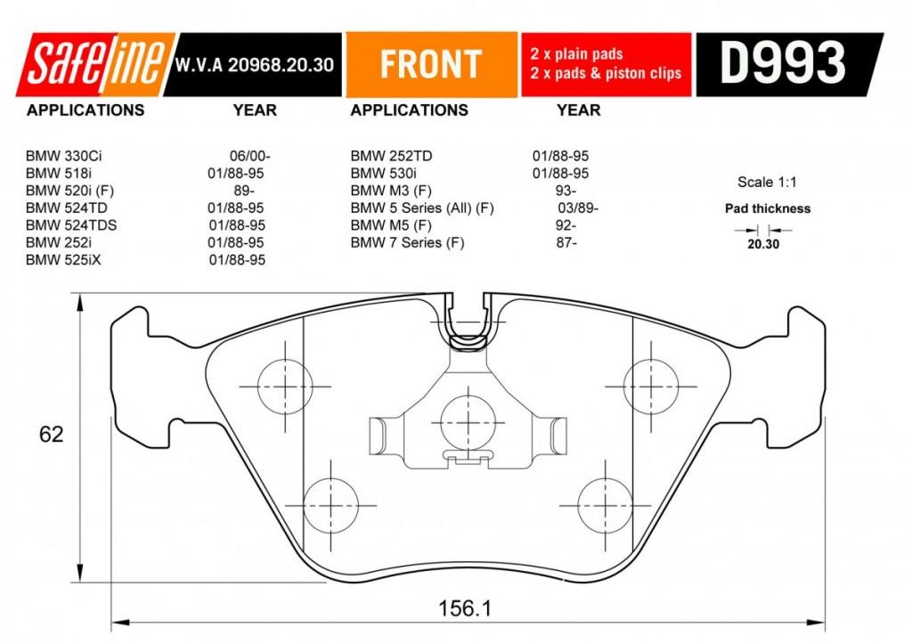 BMW 5 Series Brake Disk Line Drawing
